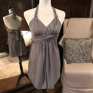 Walter Baker Sleeveless Sage/Grey Dress, S, NWT